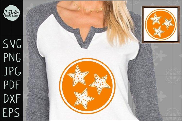 Polka Dot Tennessee TriStar SVG, Sublimation PNG & Printable