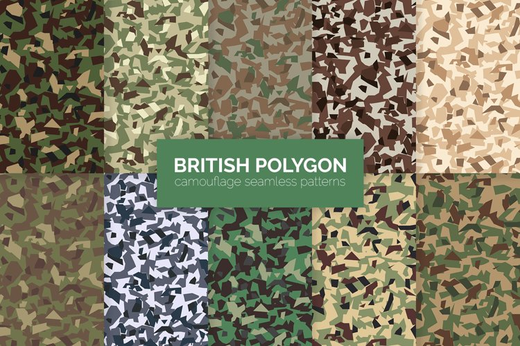 British Polygon Polygon Camouflage example image 1