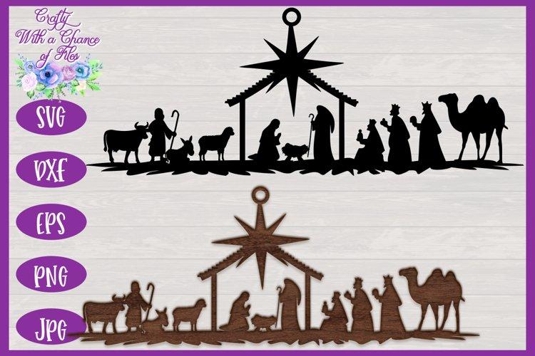 Nativity SVG | Christmas SVG | Laser Cut Ornament SVG