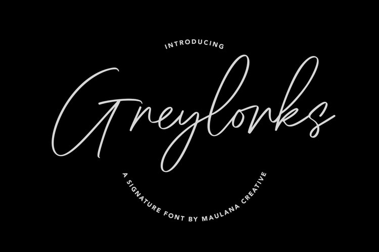 Greylorks Signature Font example image 1