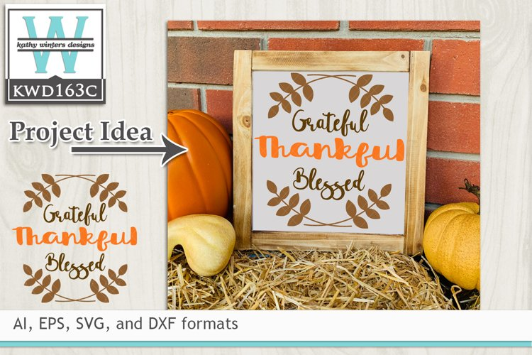 ThankfulSVG - Grateful Thankful Blessed example image 1