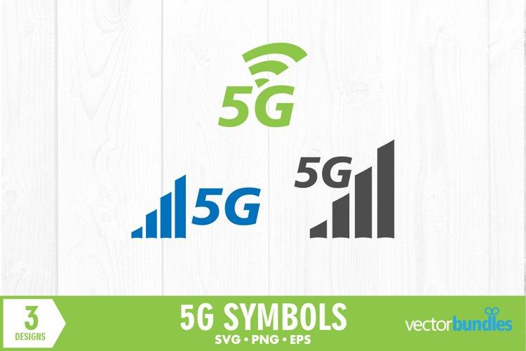 5g network symbols bundle svg example image 1