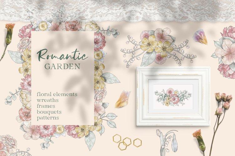 Romantic Garden Watercolor Floral Collection