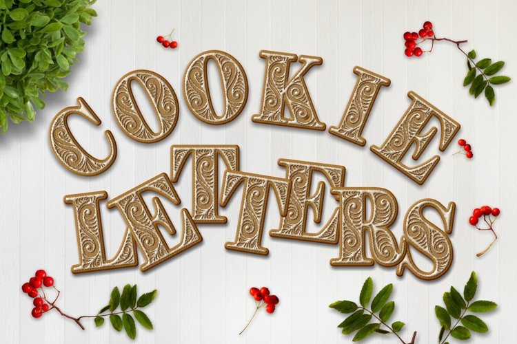 Cookie Alphabet ClipArt example image 1