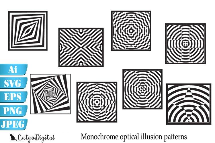 Monochrome Patterns Optical Illusion SVG EPS Ai PNG JPEG