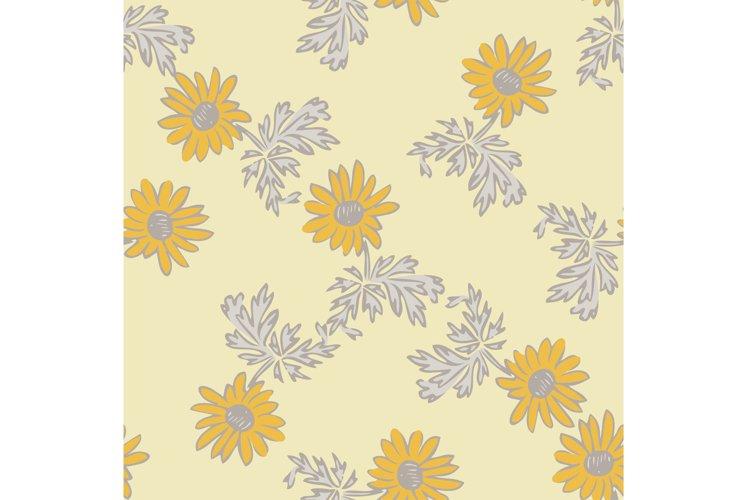 Chrysanthemum flowers drawing, bloom in yellow colors, flora