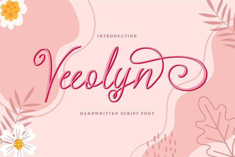 Veeolyn   Handwritten Script Font example image 1