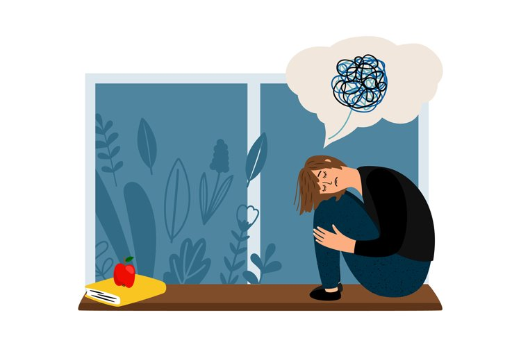 Woman depression concept example image 1