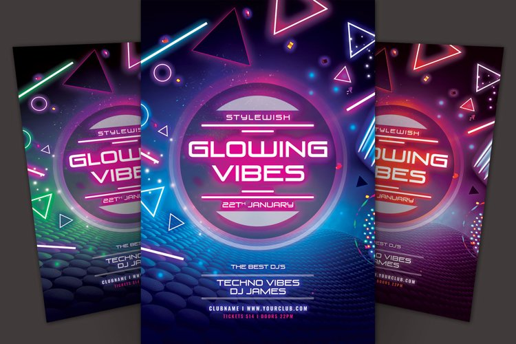 Glowing Vibes Flyer example image 1