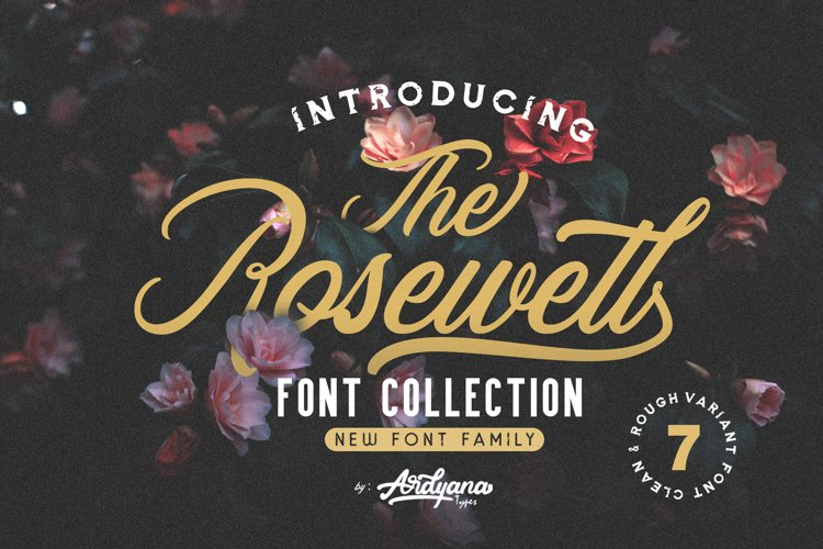 Rosewell Font Collection example image 1