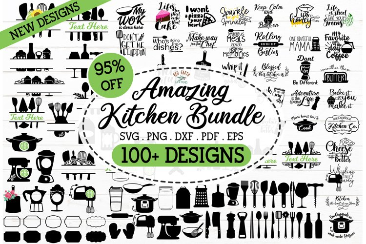 HUGE Kitchen bundle SVG,kitchen quotes,kitchen monograms SVG example image 1