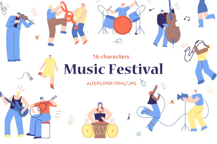 Music Festival Flat Collection example image 1
