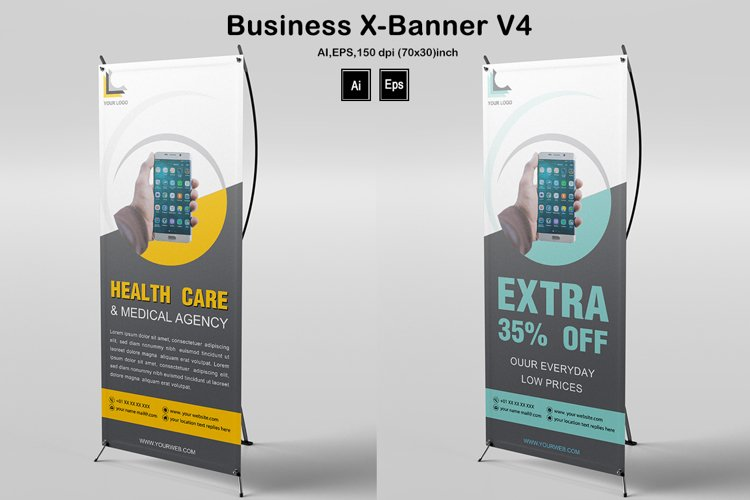 Business X-Banner V4 example image 1