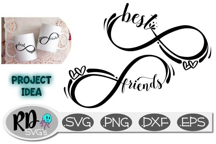 Best Friend Infinity Design - A Smooth Cutting Cut File example image 1