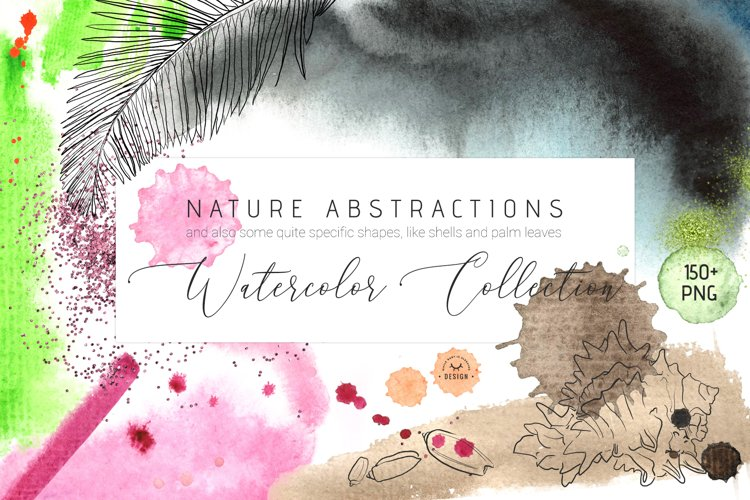 Nature Abstractions - Watercolor Set example image 1