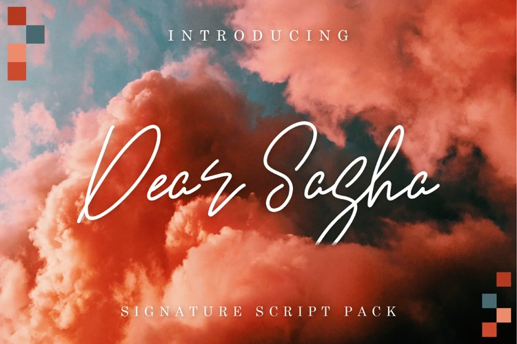 Dear Sasha Font Pack example image 1