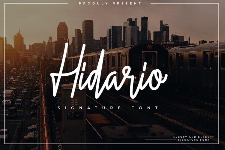 Hidario Signature Font example image 1