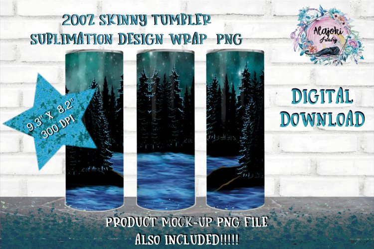 Outdoors |Camping| Forest | Sublimation|20oz| Tumbler design example image 1