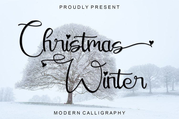 Christmas Winter - Modern Calligraphy example image 1
