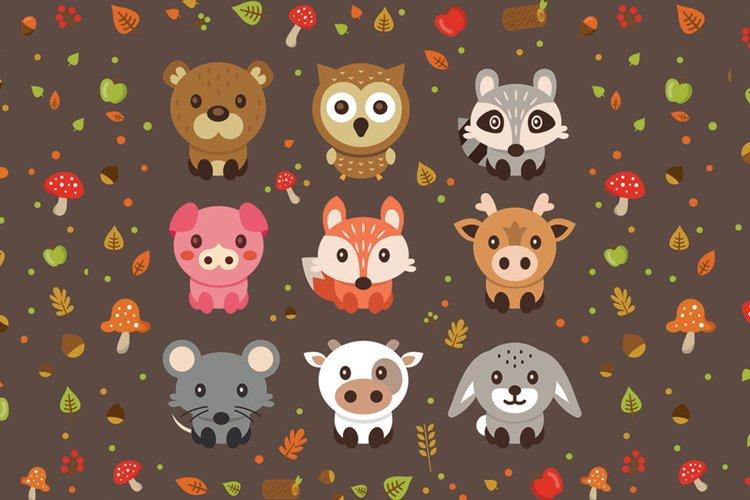 Woodland Cute Vector Pets Animals