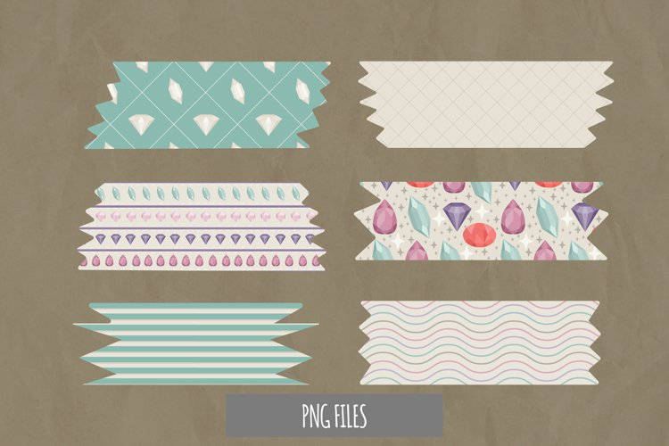 Diamond with Vintage Color Seamless Pattern Tape example image 1