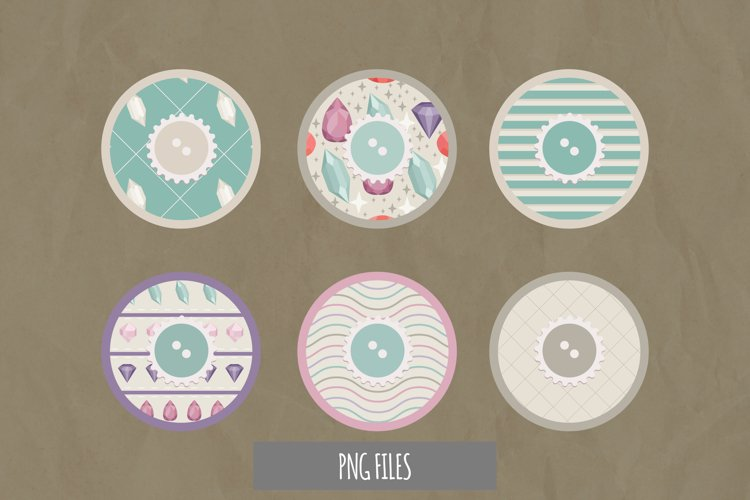 Diamond with Vintage Color Seamless Pattern with Buttons example image 1