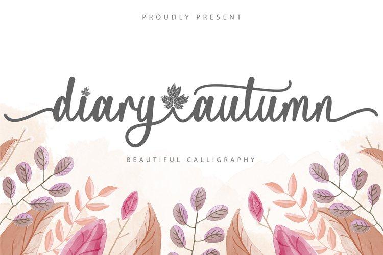 Diary Autumn example image 1