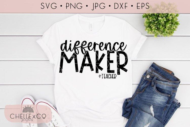 Difference Maker Teacher SVG