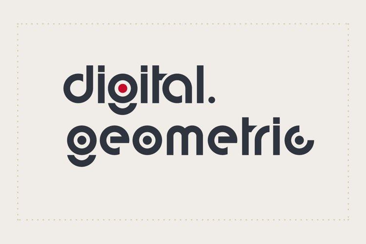 digital geometric font