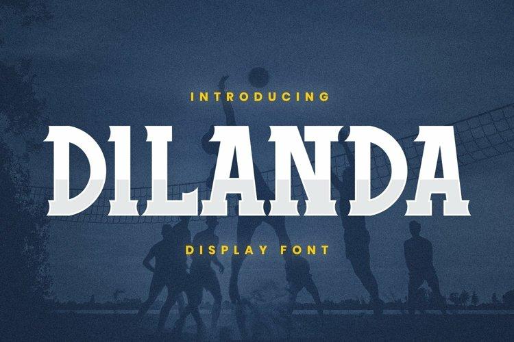 Web Font Dilanda Font example image 1