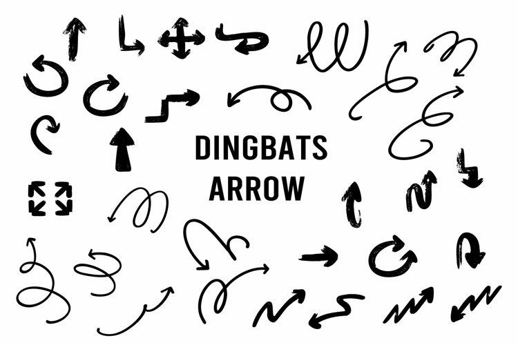 dingbats arrow font example image 1