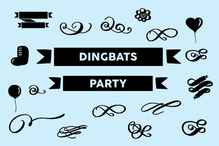dingbats party font