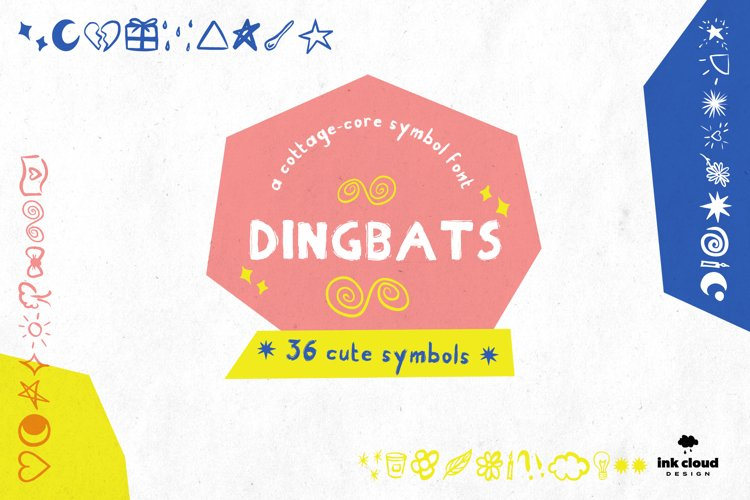 Dingbats Handwritten Symbol Script Font Kid Craft Typeface example image 1