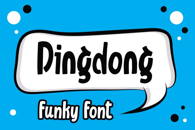 Dingdong - Funky Font example image 1