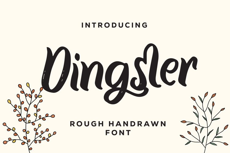Dingster - Rough Handrawn Font example image 1