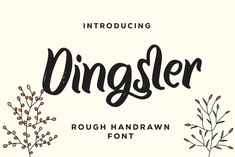 Web Font Dingster - Rough Handrawn Font example image 1