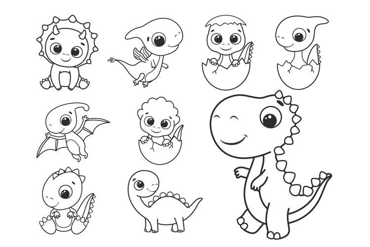 Dinosaur SVG, Cute dino SVG, PNG, Baby dinosaur clipart.