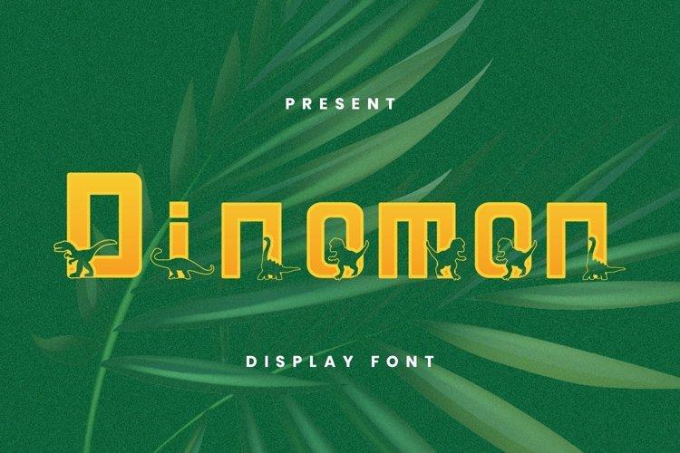 Web Font Dinomon Font example image 1