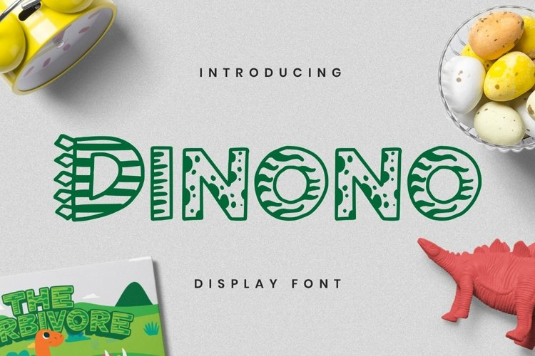 Web Font Dinono Font example image 1