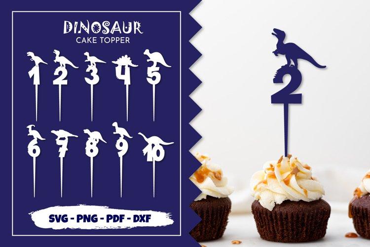 Dinosaur cake topper. Dinsaur birthday svg. Numbers svg. Cut
