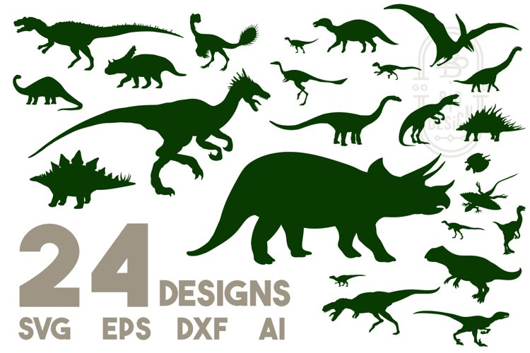 Dinosaurs SVG Bundle | 24 Dinosaurs