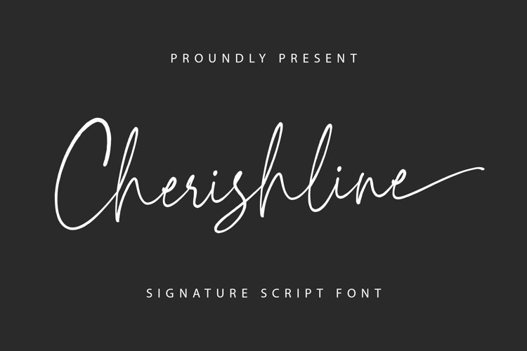 Cherishline Script Font example image 1