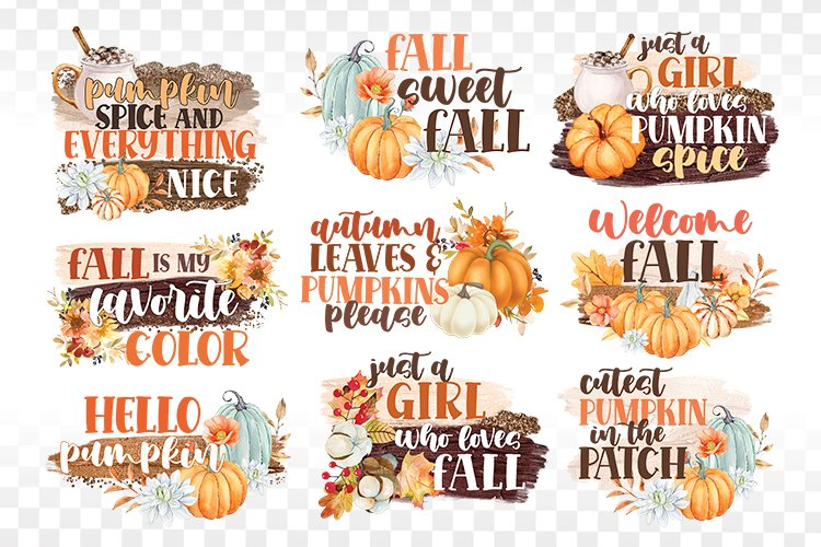 Fall Sublimation Bundle - Fall PNG Sublimation - Autumn png example image 1