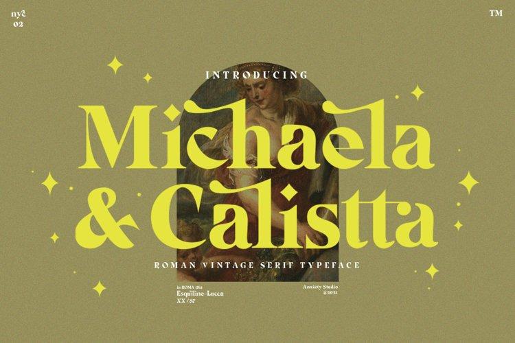 Michaela Calistta - Roman Serif example image 1