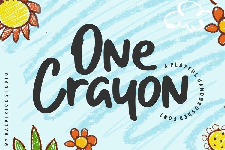One Crayon Playful Handbrushed Font example image 1
