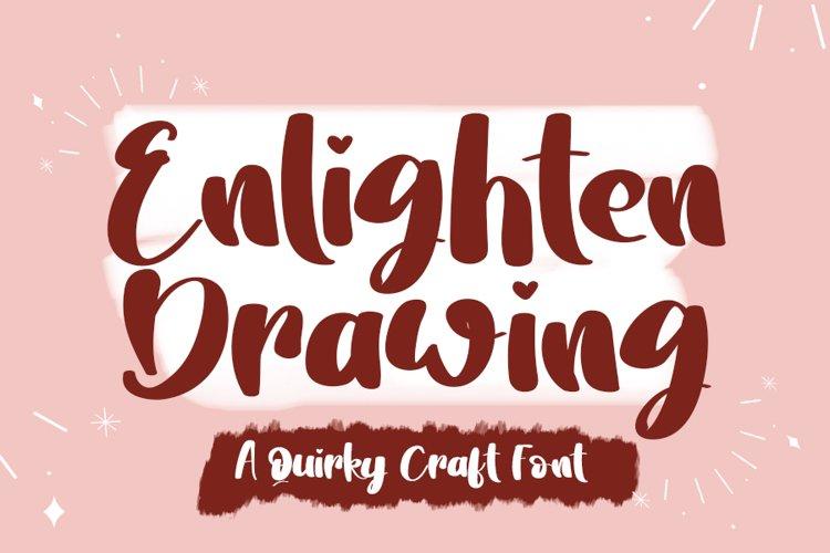 Enlighten Drawing | A Fun Handwritten Font example image 1