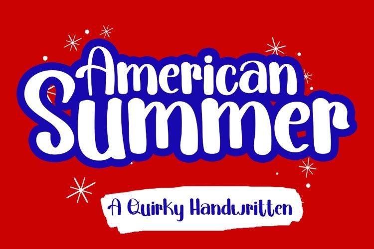 American Summer   A Fun Handwritten Font example image 1