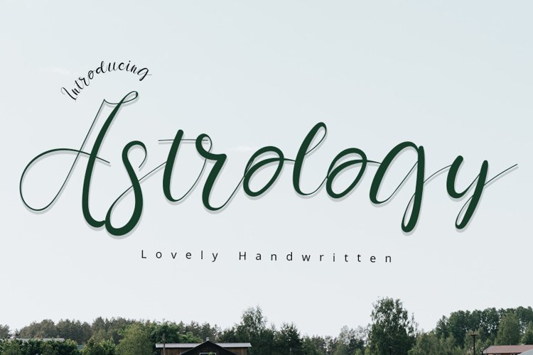 Astrology   A Lovely Handwritten Font example image 1