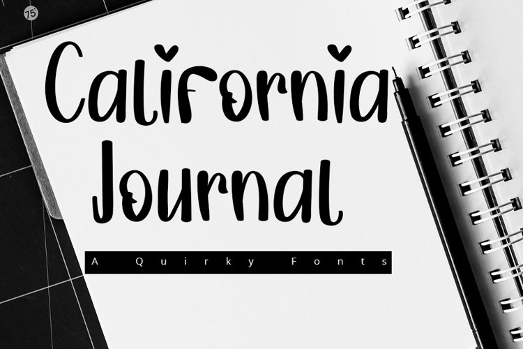 California Journal  A Quirky Font example image 1