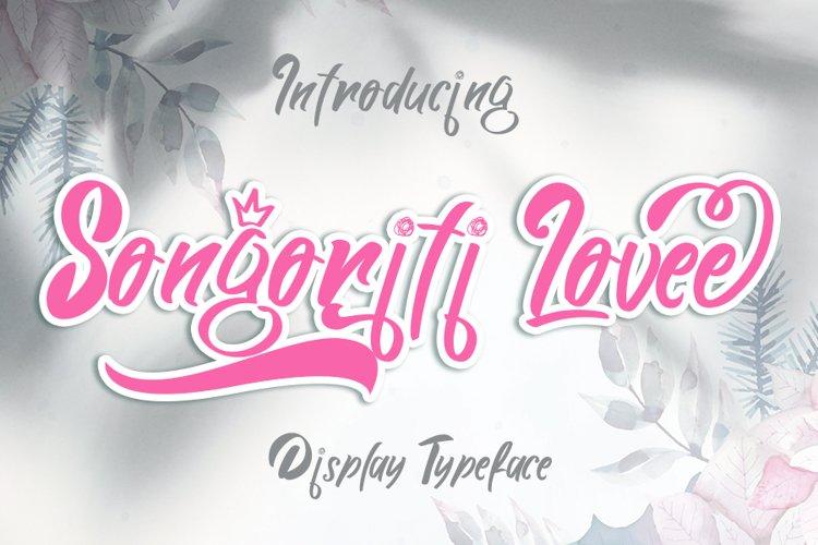 Songoriti Lovee | A Script Display Typeface example image 1